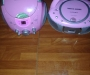 2 girls CD players and mic