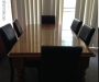 Dining Room table with Faux Leather Chairs