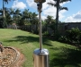 Stainless steel patio gas heater - used only